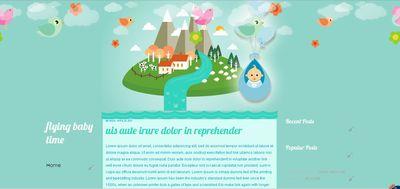 free template blogspot bertemakan bayi