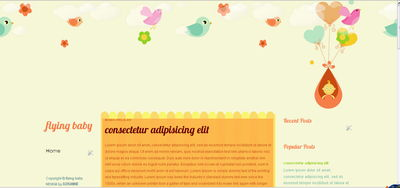 free template blogspot theme baby