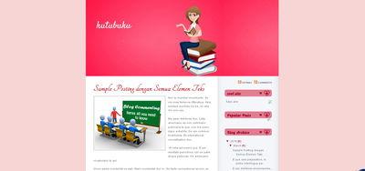 template blogspot tema buku