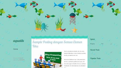 template blogspot bertema kehidupan laut