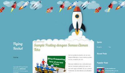 template blogspot bertema rocket