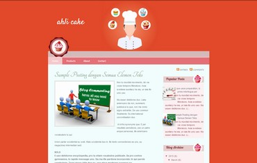 This blogspot template is suit for blogger who has blog about cake, bakery, bread