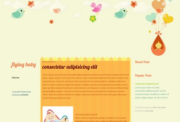 free blogspot template for blog about kid,baby,child