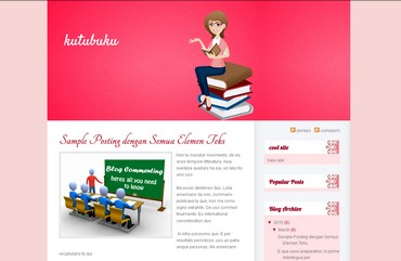 free blogspot template for blog about book, library,knowledge, or education