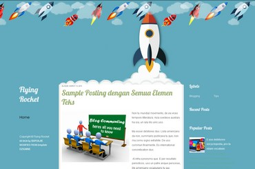 this blogger template is free to download. it has theme about rocket
