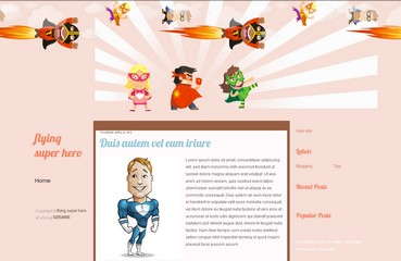 free blogspot template for blog about superhero,toon,comics