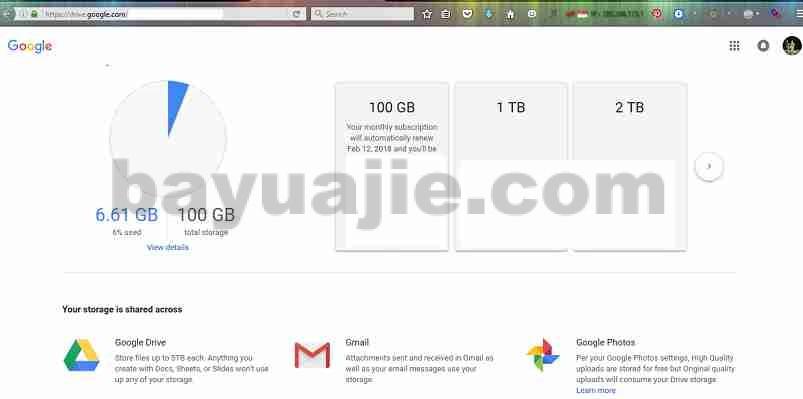 jasa tambah space gmail , upgrade space google drive